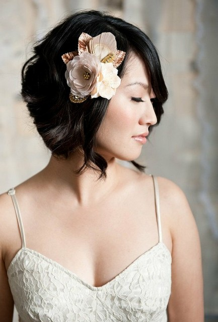 wedding hair styles for short hair tumblr