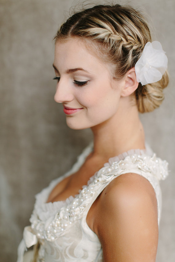 side wedding hairstyles : Side View of Braided Bun for Wedding ? Wedding Updo Hairstyles Back ...