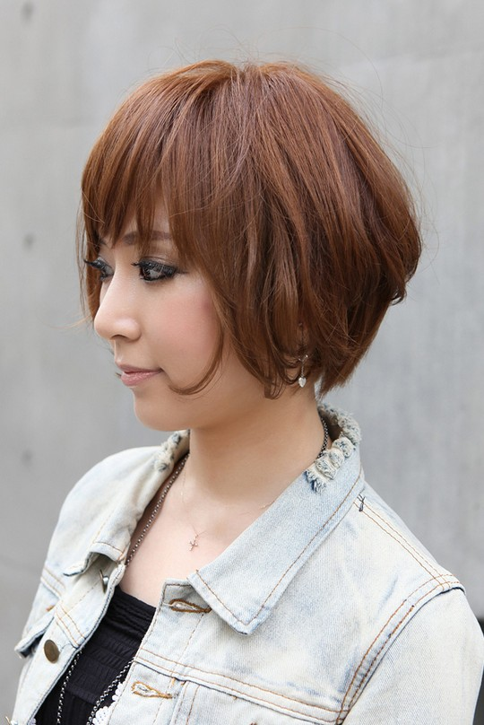 Strange Trendy Short Copper Haircut From Japan Stacked Short Angled Bob Short Hairstyles Gunalazisus