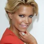 Sylvie van der Vaart Short Daily Wavy Hairstyle /Getty Images