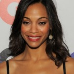Zoe Saldana Long Black Wavy Hairstyle for Black Women