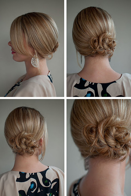 simple twist & pin side chignon - romantic low updo for wedding