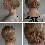 Simple twist & pin side chignon