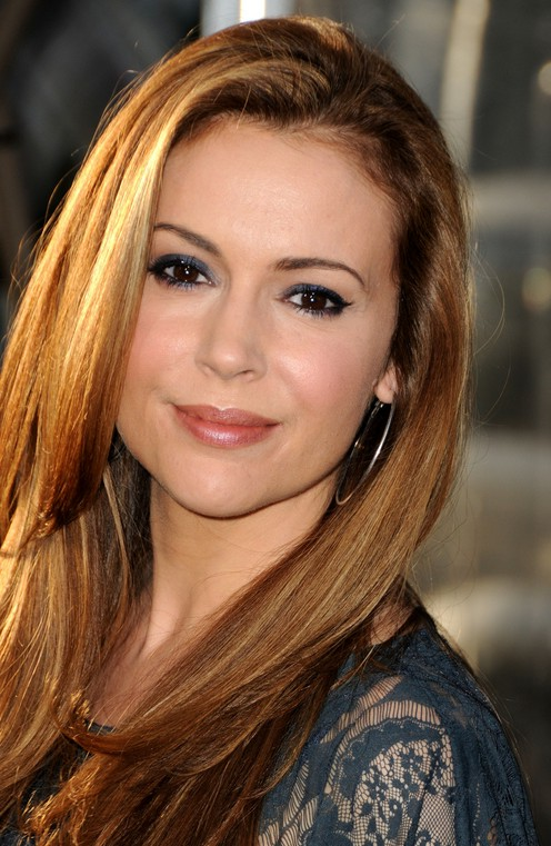 ... & Honey Highlights Hair Style for Women – Alyssa Milano Hairstyles