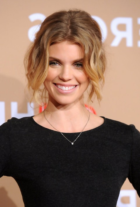 Marvelous Messy Faux Bob Haircut For Medium Ombre Hair Annalynne Mccord Hairstyles For Men Maxibearus