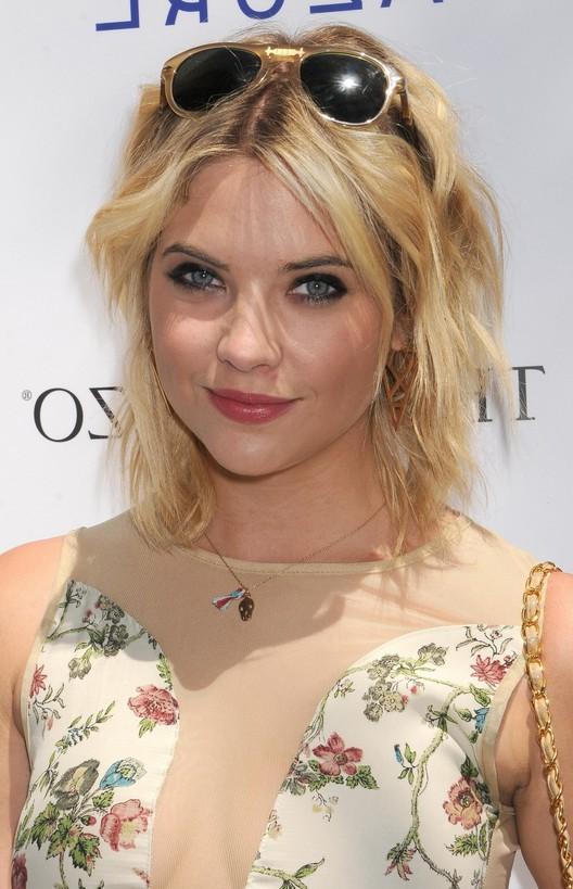 Ashley Benson Layered Short Choppy Messy Hairstyle for Summer