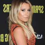Ashley Tisdale long dark to light ombre hair for straight hair