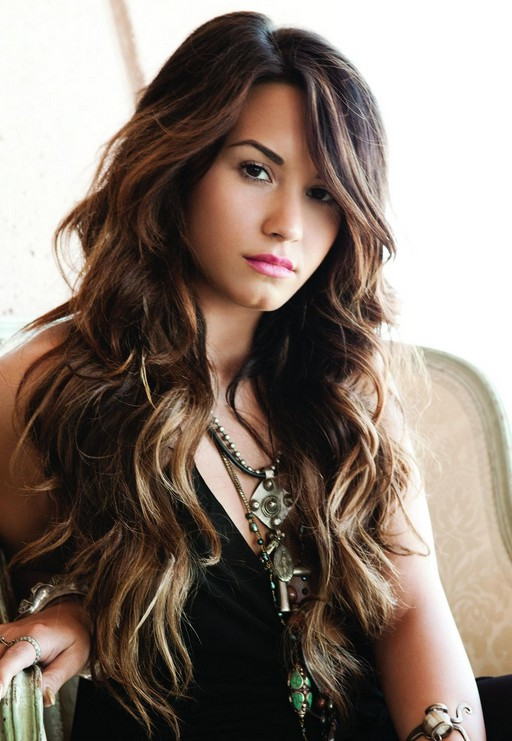 Deep Delicious Big Wave Hairstyle For Long Hair Demi Lovato
