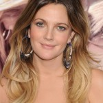 Drew Barrymore long wavy ombre hair for women
