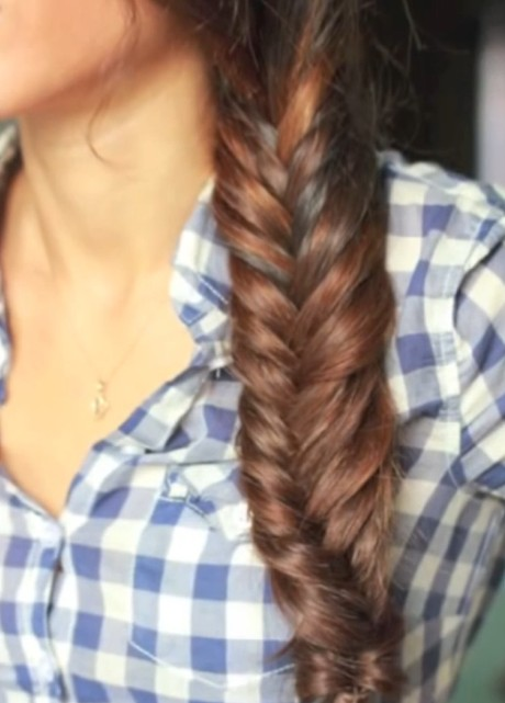 Image result for side fishtail braid