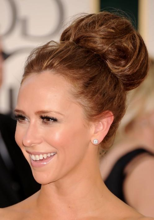Classic Full-Volume High Bun Updo - Jennifer Love Hewitt Hair ...