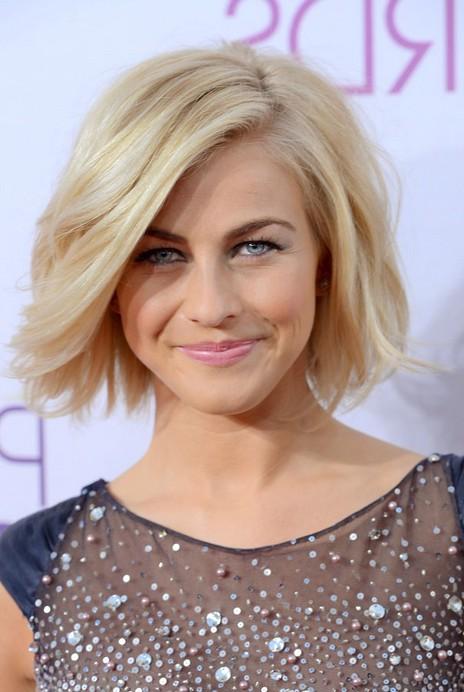 Fabulous Julianne Hough Short Hairstyle Blonde Roots On Tousled Bob Short Hairstyles Gunalazisus