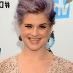 Kelly Osbourne Grey & Lavender Tousled Quiff Hairstyle