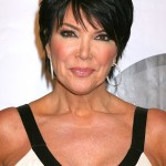 Kris Jenner short black pixie cut for women over 50