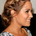 Side View of braided Chignon - Lauren Conrad Hairstyle