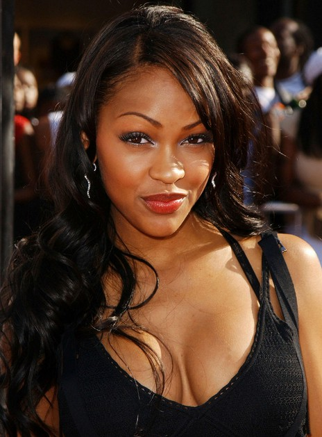 Meagan Good long wavy hairstyle for black women