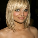 Cute short blonde bob haircut with bangs - Nicole Richie short haircut