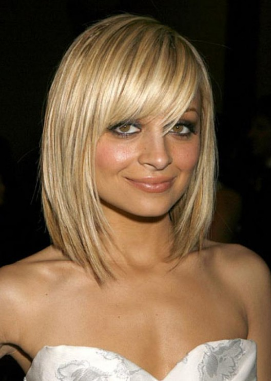 Superb Pretty Textured Blonde Bob Haircut With Full Fringe Nicole Short Hairstyles For Black Women Fulllsitofus