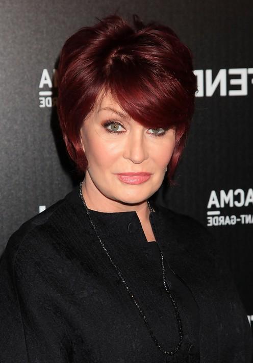 Hairstyle For Women Over 60 Sleek Auburn Bob Haircut From