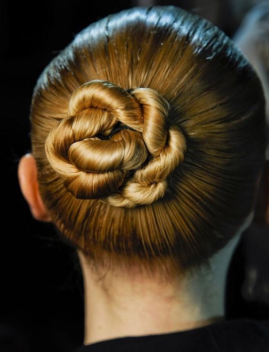 Prime Summer Hairstyle Idea Sleek Twisty Central Chignon Bun Updo Back Hairstyles For Women Draintrainus