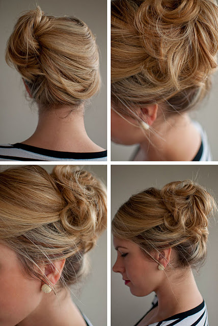 Simple Easy Updo for Summer: Loose Side French Twist Updo