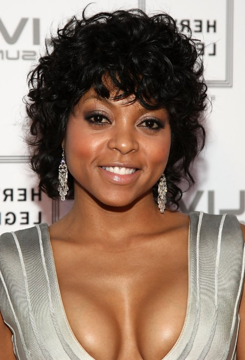afro-american curly haircut: taraji p. henson's black curly