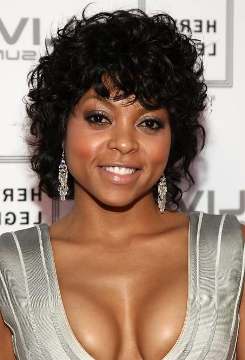 Remarkable Afro American Curly Haircut Taraji P Henson39S Black Curly Short Hairstyles For Black Women Fulllsitofus