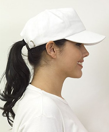 Chic Sport hairstyle - baseball cap ponytail