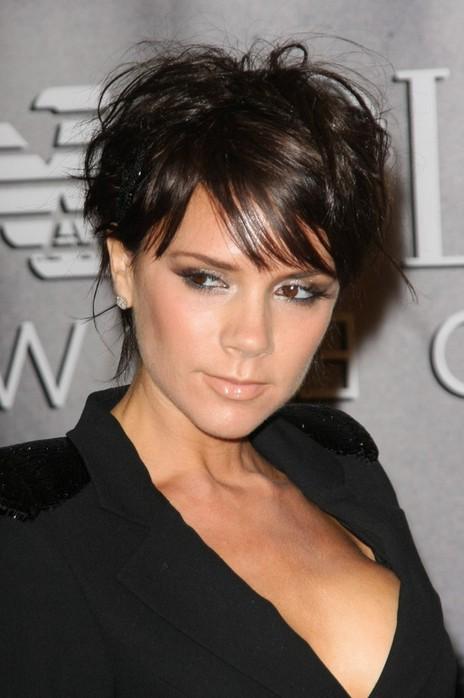Victoria Beckham Hairstyle Stylish Short Haircut Dark Glossy Urban Chic Hairstyles Weekly