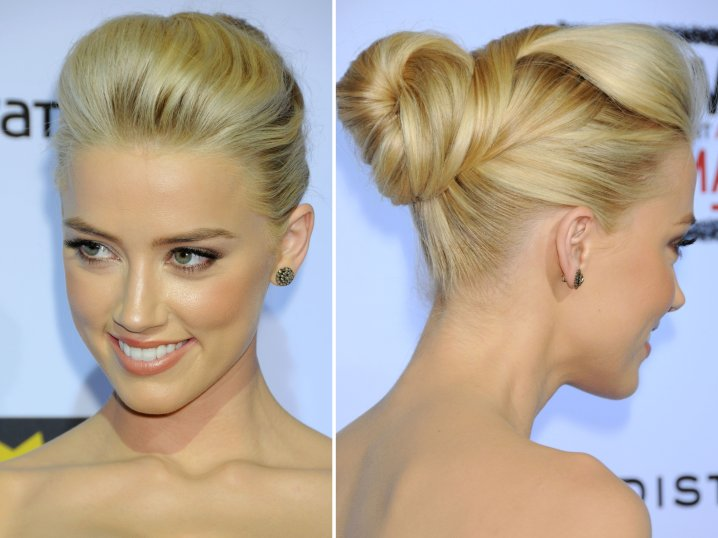 Unique Smooth Twisted Chignon For Formal Occasion
