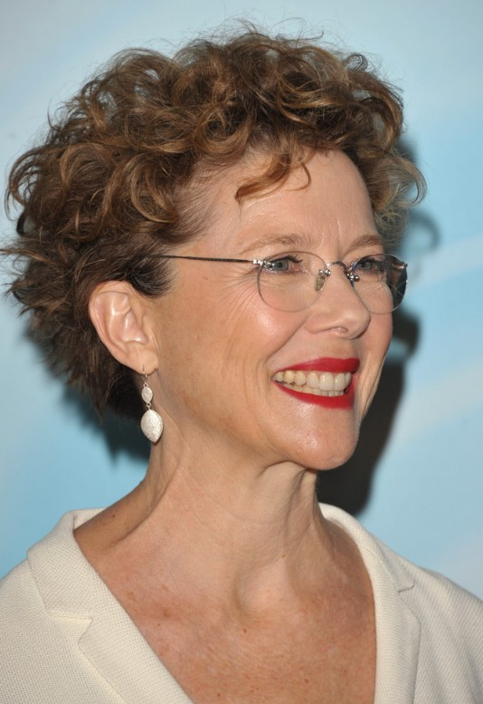 Picture of Short curly hairstyle for women over 50 - Annette Bening ...