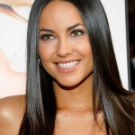 Sleek Long Black Hair Style 2014 - Barbara Mori hairstyle