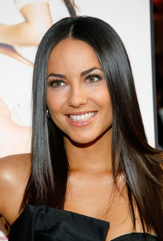 Sleek Long Black Hair Style 2014   Barbara Mori Hairstyle