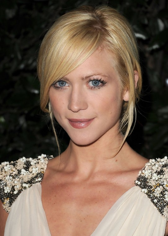 Cute Side Parted Updo With Bangs For S Brittany Snow Hairstyles