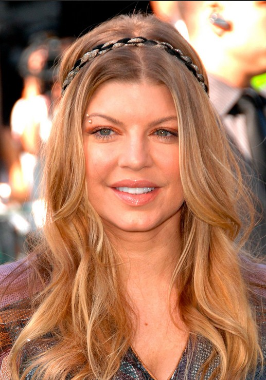 Long Hairstyle for Fall: Balayage on Casual Hippy Waves- Fergie\'s ...