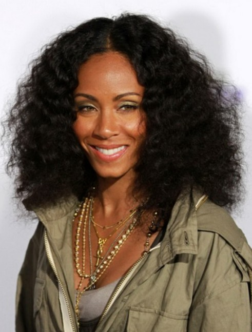 Medium Black Curly Hairstyle: High Volume Natural Waves - Jada ...