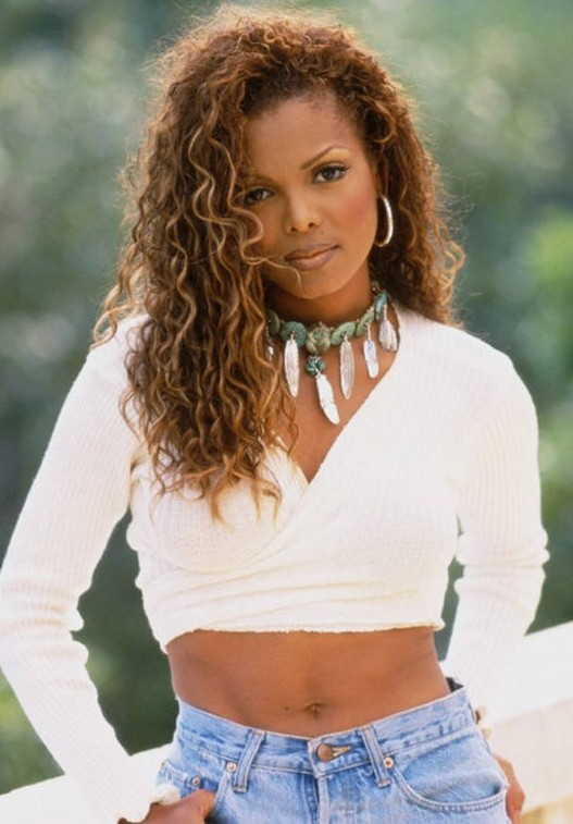Janet Jackson S Hairstyle Casual Curly Long Hairstyle