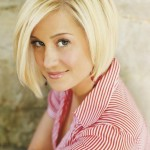 Short Asymmetric Bob hairstyle for women - Kellie Pickler short haircut