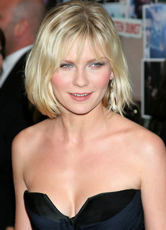 Cute simple short blonde bob haircut for women - Kirsten Dunst Hairstyles