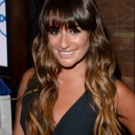 Back to School Hairstyles for Long Hair: Lea Michele Long Brown Wavy Hairstyle with Bangs