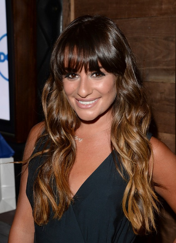 Peachy Back To School Hairstyles For Long Hair Lea Michele Long Brown Natural Hairstyles Runnerswayorg