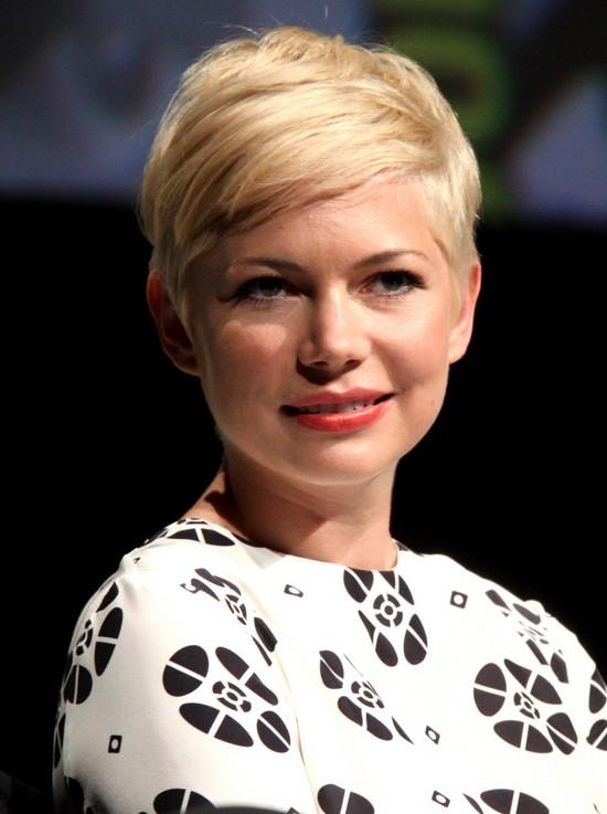 Picture of Michelle Williams' Haircut - Chic short blonde pixie cut ...