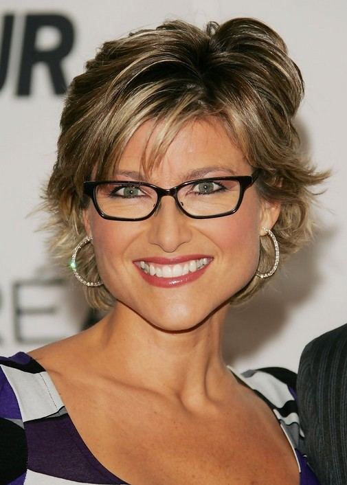 Layered Razor Cut with Bangs - Short Haircut for Women Over 40 - Ashleigh Banfield's Hairstyles