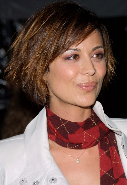 Short Layered Funky Edgy Bob Haircut Catherine Bell S