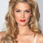 Long blonde wavy hair style with braided headband - Delta Goodrem hairstyles