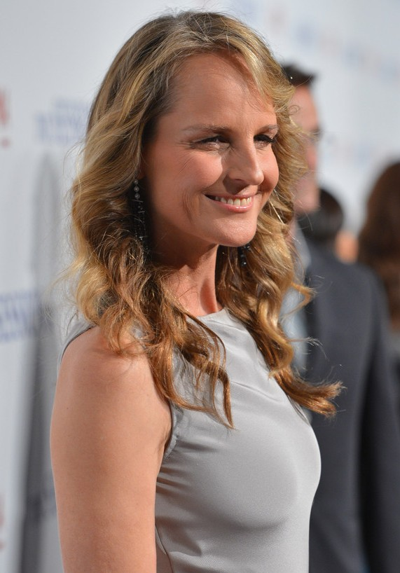 Terrific Layered Curly Hairstyle With Side Swept Fringes Helen Hunt39S Hairstyles For Women Draintrainus