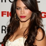 Long brown wavy hairstyle with bangs 2014 - Jenna Dewan's hairstyles