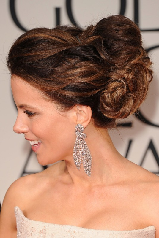 best prom/wedding updo: elegant free-form balayage updo - kate