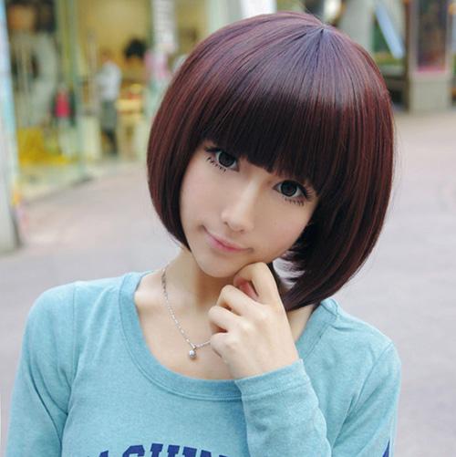 Kawaii Short Bob Haircut for Girls