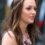 Cute braided long sleek hairstyle - Leighton Meester's Hairstyle